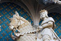 Statue du Roi Louis XII, Château de Blois, Loir-et-Cher, France