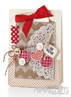 Melissa Phillips - Paper Crafts magazine.  ♥ ALL the embellishments and textures - gorgeous!