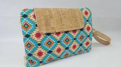 Your place to buy and sell all things handmade Nappy Wallet, Aztec Style, Cork Fabric, Bobs, Mother Day Gifts, Printing On Fabric, My Etsy Shop, Buy And Sell, Check