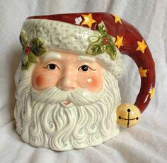 Susan Winget Very Large Figural Santa Christmas Mug Cup Tis The Season with Box | eBay