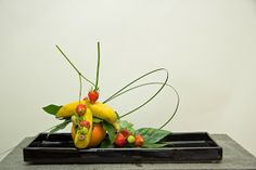 Japanese Gardens and Ikebana: Morimono, arrangements with fruit or vegetables