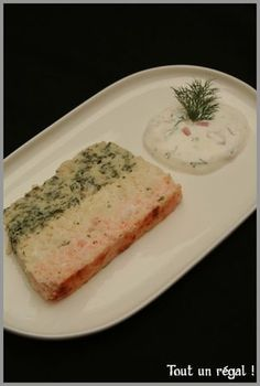 fish terrine and cottage cheese sauce - Trend Appetizer Fine Dining 2019 Appetizers For A Crowd, Seafood Appetizers, Seafood Recipes, Cooking Recipes, Cold Snacks, How To Cook Fish, Cheese Sauce, Cottage Cheese, Entrees