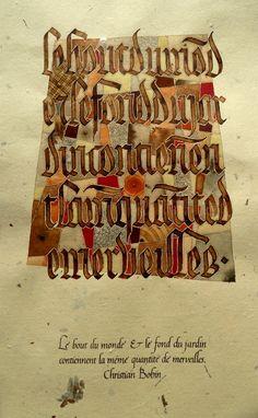 Text by Christian Bobin, anachropsy » Benedict Ferret