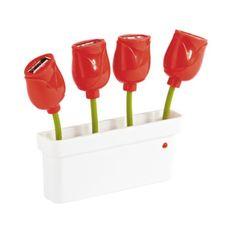 Pensiero perfetto per la collega che ha mille e più chiavette USB e che ama i fiori :)