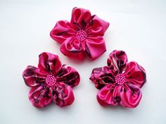 Hot PinkPurple Flowers Handmade Appliques by BizimSupplies on Etsy, $12.00