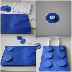Cómo hacer una bolsa lego para una fiesta