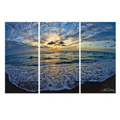 'Ocean' by Christopher Doherty 3 Piece Photographic Print on Wrapped Canvas Set