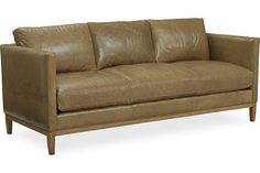 Lee Industries - Leather Sofa- Nice shape  but I don't think leather is what I'm after