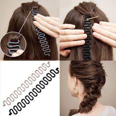 Cute Bowknot Headwear Sponge DIY Hair-bun Tool Ribbon Hair Band ILOE