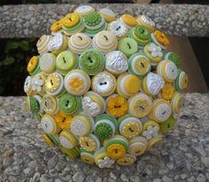 Custom Colors Wedding Button Bouquets