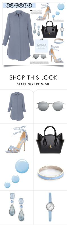 """""""It's a Shirtdress!"""" by southindianmakeup1990 ❤ liked on Polyvore featuring Xander, Ray-Ban, Dorothy Perkins, Topshop, Whistle & Bango, Anne Klein and GUESS"""