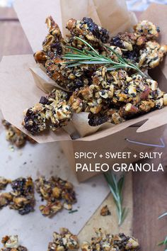 I might have a little addiction to this salty, sweet, spicy, crunchy, #Paleo #Granola. It's too good! The Tomato Tart
