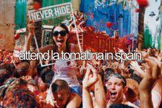 La Tomatina Bunol near to Valencia, Espana last Wednesday of August each year