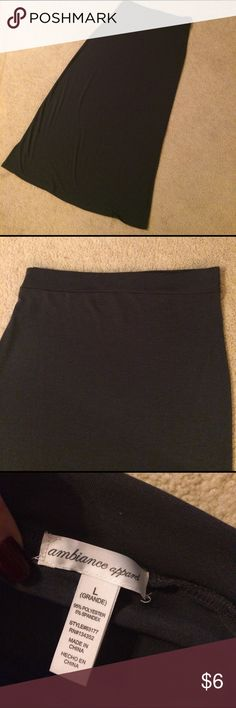 Grey Ambiance Apparel Long Skirt Grey Ambiance Apparel Long Skirt. Size Large.  Last photo is same Skirt mine is just a little darker. My skirt  has never been worn Ambiance Apparel Skirts Maxi