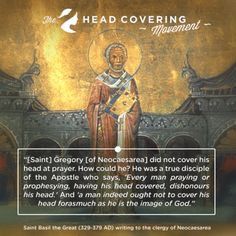 Head Covering Quotes - Saint Basil the Great