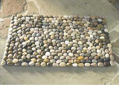 Alfombra con piedras