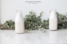 A video and a written description of how to make your own homemade almond milk. Trust me guys, it is so simple, fast and tastes a million times better. Homemade Almond Milk, Glass Of Milk, Make It Yourself, Vegan, Drinks, Health, Blog, Life, Salud