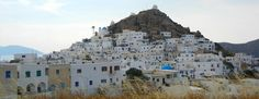 The main town on the island of Ios, Greece