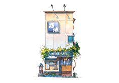 #10 Noike sushi restaurant in Yanaka Ginza—Tokyo Storefronts by Mateusz | Bēhance