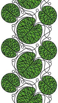 Bottna Fabric Green/Black/White | Kiitos Marimekko