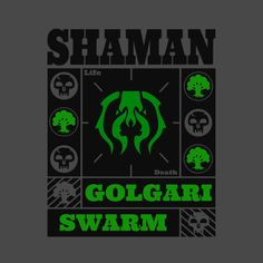 Check out this awesome design on Life And Death, Magic The Gathering, Mtg, Design Design, Awesome, Check, Green, T Shirt, Stuff To Buy