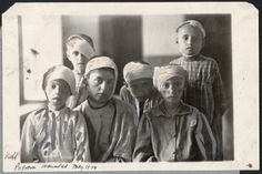 Jewish children wounded in a pogrom. 1920.