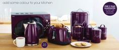 Purple appliances from the NEXT UK online store.