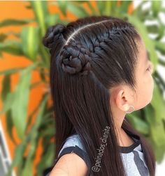 Peinados - Nail Effect Cool Braid Hairstyles, Side Hairstyles, Baddie Hairstyles, Easy Hairstyles For Long Hair, Little Girl Hairstyles, 1980s Hairstyles, Spring Hairstyles, Girl Hair Dos, Little Girl Hair