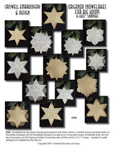 freestanding snowflakes with organza
