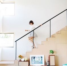 Ellen, trotting happy as a clam down the stairs of her newly renovated home, the morning of the Food & Wine photoshoot. (photo by @courtneyperkins)