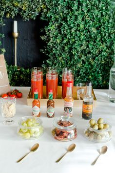Holiday Bloody Mary bar | Cocktail recipe | 100 Layer Cake