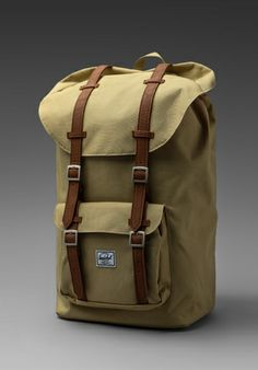 Shop for Herschel Supply Co. Little America Backpack in Khaki at REVOLVE. Herschel Backpack, Herschel Supply Co, Revolve Clothing, Men's Accessories, High School, Essentials, America, Backpacks, Bags