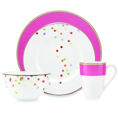 kate spade new york Market Street Pink Dinnerware