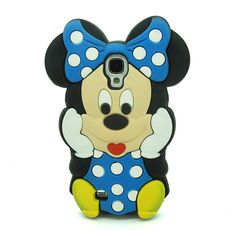 3D BLUE Cartoon Mouse Soft Silicone Case Cover Skin for Samsung Galaxy S4 i9500 SIV