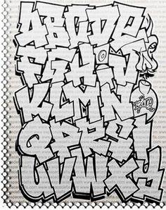 Graffiti Alphabet Letters A-Z Fonts from espacedefis | NEAM GRAFFITI ...