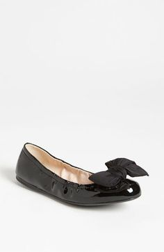 Prada Puff Bow Ballerina Flat available at  Nordstrom  400 Ballerina Flats 5ae87868e0e1