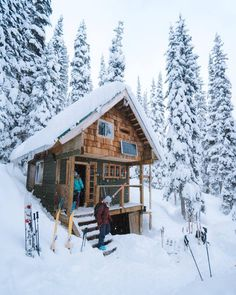 Small Log Cabin, Tiny Cabins, Little Cabin, Tiny House Cabin, Log Cabin Homes, Cabins And Cottages, Cozy Cabin, Log Cabins, Cabin Tent