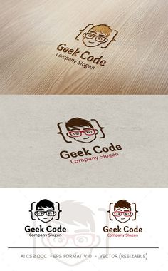 Geek Code Logo Template Vector EPS, AI Illustrator. Download here: https://graphicriver.net/item/geek-code-logo/9819319?ref=ksioks
