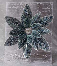 Heartfelt Creations | Clear Frosty Poinsettia Card