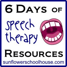 Speech Therapy Resources - Re-pinned by @PediaStaff – Please Visit http://ht.ly/63sNt for all our pediatric therapy pins
