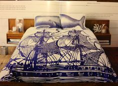 Ship Duvet Covers (Queen/King) & Moby Shams (Standard/King) by Thomas Paul