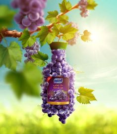 Almarai Natural Grape on Behance Creative Poster Design, Ads Creative, Creative Posters, Creative Advertising, Print Advertising, Print Ads, Advertising Campaign, Web Design, Graphic Design Inspiration
