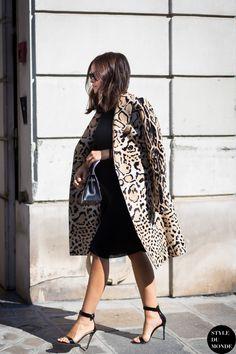 "ivsmanifiesto: "" Miroslava Duma and the leopard print. Source: style du monde. """