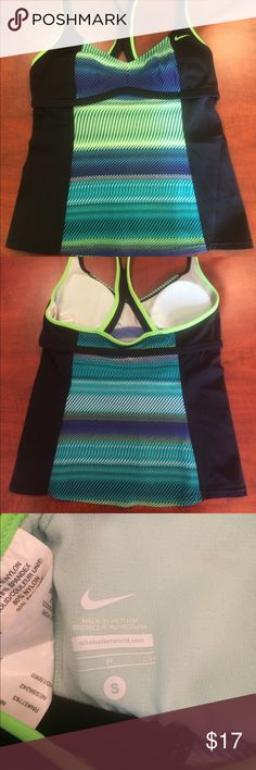 Nike Active Tankini Color Surge Racerback Multi colored active/swim tank by Nike. Note the color pattern is slightly different than the stock photo! Nike Tops Tank Tops