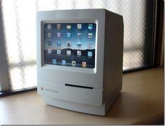 De klassieke Macintosh  Dingen komen altijd wel weer terug in de mode. Deze iPad heeft voor de gelegenheid de oude kleren van opa uit de kast getrokken.