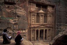 Facade of the treasury in Petra, Jordan, by Richard Nowitz.