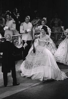 Number one reason to do opera... The COSTUMES! La Traviata. Anna Moffo.