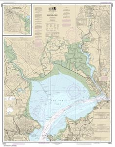 San Pablo Bay Nautical Chart (18654) by NOAA