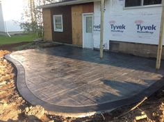 Rochester Ny Stamped Concrete Patio With A Stained Border. To View More  Pictures Visit Www.