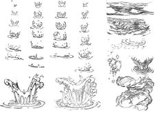Ideas How To Draw Water Splash Animation Water Drawing, Manga Drawing, Water Sketch, Animation Reference, Drawing Reference, Drawing Techniques, Drawing Tips, Running Drawing, Animation Tutorial